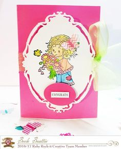 More card making fun with Beck!