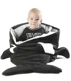 Baby Bites ORIGINAL Mantita RAYAS AZULES para hamaca Reversible