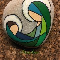 Risultati immagini per piedras pintadas a mano amor Pebble Painting, Pebble Art, Stone Painting, Stone Crafts, Rock Crafts, Christmas Rock, Christmas Crafts, Hobbies And Crafts, Arts And Crafts