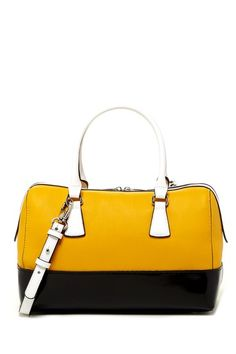 Charles Jourdan Dara Satchel by Titan on @HauteLook so cute. love the yellow. can you say conversational piece. :)