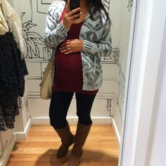 Fall winter fashion. Fashionista mama. Maternity. Sweater weather with riding boots. Outfit of the day. Ootd. What I wore. Lookbook.