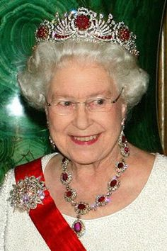 From Her Majesty's Jewel Vault: Queen Victoria's Crown Ruby Earrings and Necklace