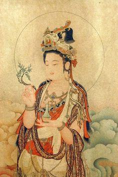 Kwan Yin Scroll--she carries a healing Willow wand