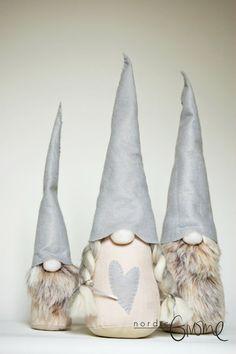 Scandinavian Gnome Family, Christmas Tomten, Nisse, Tonttu, Santa, Handmade by Nordic Gnome