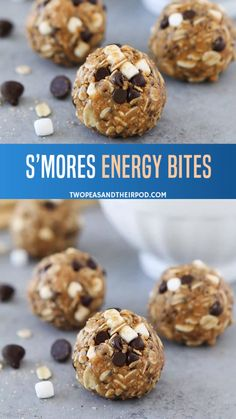 This easy no-bake energy balls are packed with protein! Takes only 10 minutes to make, this is a perfect quick and healthy back to school snack for the kids! snacks for kids to make S'mores Energy Bites Easy Snacks For Kids, Kids Meals, Easy Baking For Kids, School Snacks For Kids, Toddler Snacks, Kid Snacks, Snacks For Work, School Lunch, Keto Desserts