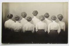RPPC WOMEN Hair Styles Gibson Girl LADIES Postcard NE 1909