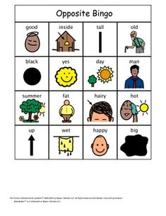 A unit on Opposites for kids with autism.