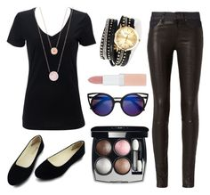 """""""A hairdressers casual day"""" by itsmaggie4 on Polyvore featuring rag & bone, Michael Kors, Chanel and Rimmel"""