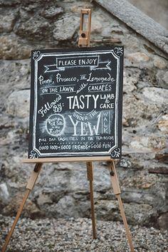 Chalkboard signage | Savo Photography | onefabday.com