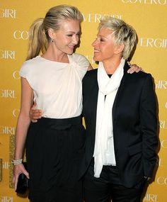 Out and Proud Celebs: Portia de Rossi and Ellen DeGeneres