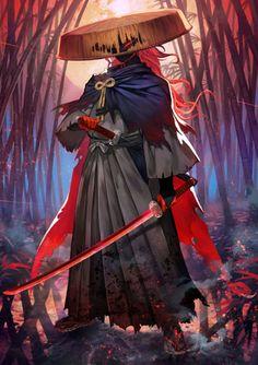 Daijou, Right Hand of Dai Fantasy Character Design, Character Design Inspiration, Character Concept, Character Art, Samurai Girl, Ronin Samurai, Arte Ninja, Ninja Art, Dark Fantasy Art
