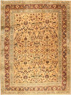 "Antique Khorassan Persian Rugs 9'8"" x 13'2"", includes deep green"