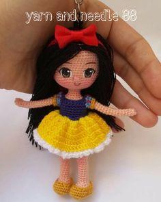 Angel Gaby pattern by Elif Tekten Crochet Dolls Free Patterns, Crochet Doll Pattern, Amigurumi Patterns, Amigurumi Doll, Doll Patterns, Crochet Toys, Doll Tutorial, New Dolls, Knitted Dolls
