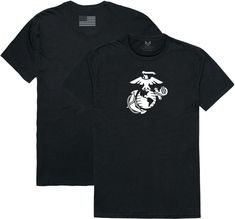 RapDom Marines Logo Graphic Relaxed Mens Tee [Black - S]