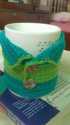 crocheted mug jacket :)