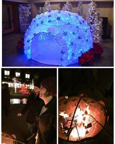 Not sure what was cooler, the milk jug igloo or roasting marshmallows. #TowerHill