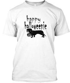 Halloweenie Funny Pumpkin Tshirt White T-Shirt Front