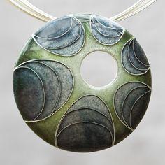Commissioned cloisonné pendant by Ramunė Rastonis (2011)