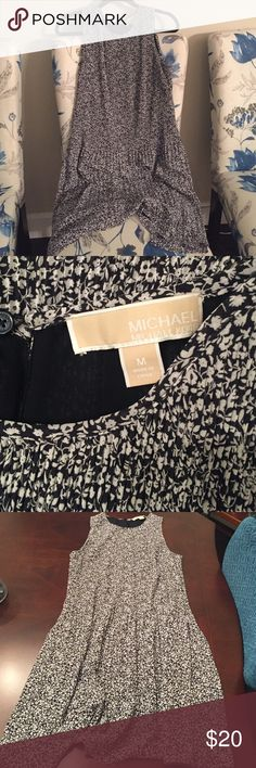 Michael Kors Dress Blue and white floral sleeveless Michael Kors drop waist dress. 28 inches from arm hole MICHAEL Michael Kors Dresses