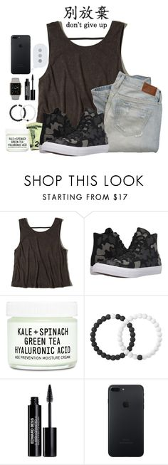 """Don't Give Up"" by lost-in-a-paper-town ❤ liked on Polyvore featuring Hollister Co., Abercrombie & Fitch, Converse, Youth To The People, Lokai and Edward Bess"