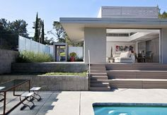 Swimming Pool Terrace Design in Simple Modern Home Design Olson Residence, Photo  Swimming Pool Terrace Design in Simple Modern Home Design Olson Residence Close up View.