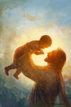 Picture of Heaven's Gift God and Jesus Christ Lds Art, Bible Art, Lord And Savior, God Jesus, Jesus Ama, Baby Jesus, Arte Lds, Image Jesus, Pictures Of Jesus Christ