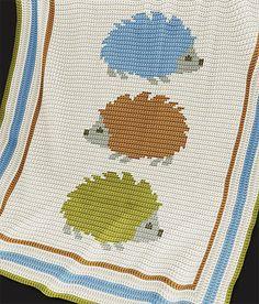 """Crochet Baby Blanket Pattern - """"Hedgehogs"""" - CROCHET PATTERN - DK"""