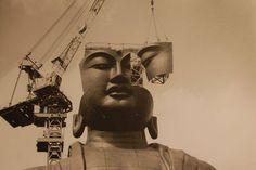 Ushiku Daibutsu (牛久大仏) (The Ushiku Buddha) under construction , early 1990s . Photographer unknown