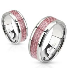 STR-0070 Stainless Steel Pink Carbon Fiber Inlay Band Ring (9) #Jinique http://www.amazon.com/dp/B00FI9PPVC/ref=cm_sw_r_pi_dp_G6Sewb08STA53