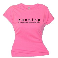 FDT Womens Fitness SS T-Shirt-Running it's Cheaper Than Therapy-Pink Md Flirty Diva Tees http://www.amazon.com/dp/B006WUWEJM/ref=cm_sw_r_pi_dp_Gt8Eub1HP9S4A