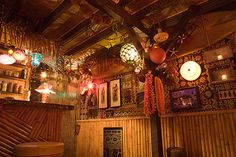 Inside Sponge Bob's animation directors Tiki Lounge. - Kind of not fair