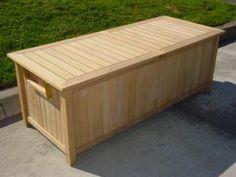 Roble Wood Storage Box Robel wood, roblewood, roble wood, Patio ...