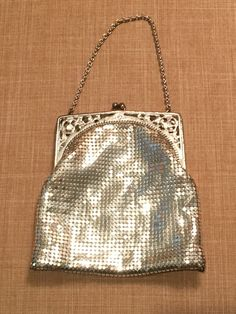Vintage Silver Mesh Whiting and Davis Purse by CobbledStreets