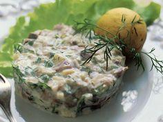 Sillitartar Potato Salad, Tapas, Dairy, Eggs, Cheese, Dinner, Cooking, Breakfast, Ethnic Recipes