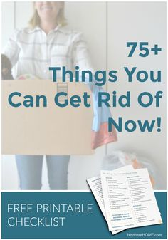 DIY Home Decor Inspiration : Quickly declutter your home with this free checklist: Things You Can Get Rid. Small Bathroom Organization, Organization Hacks, Organization Ideas, Storage Ideas, Declutter Your Home, Organizing Your Home, Do It Yourself Organization, Home Binder, Diy Garage