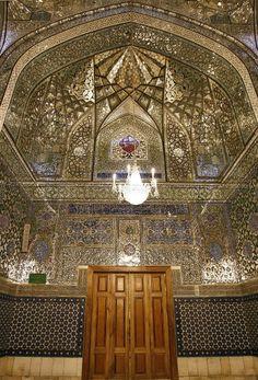Dar-al-Siyadah Porch,Imam Reza shrine, Mashhad, Iran (Islamic Art