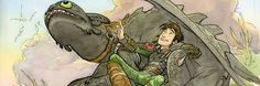 Art by Dean Deblois < Hiccup and Toothless. :)