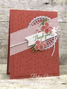 Stampin' Up!® Tropical Chic Thank You Card (Stamps to Die For) Handmade Thank You Cards, Greeting Cards Handmade, Butterfly Cards, Flower Cards, Hibiscus, Hand Stamped Cards, Making Greeting Cards, Diy Garden, Card Tags