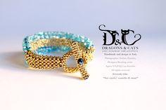 Bracelet Sea Castel / Bracciale Castello di mare    It is a bit #statement accent #bracelet . Another experiment and I am quite happy with it.  #bracelet #bracciale #blue #capri #swarovski  #seedbead #perline #bijoux# jewelry #dragons #cats