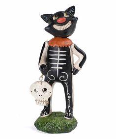 Loving this Pumpkinseeds Costume Cat Figurine on #zulily! #zulilyfinds