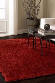 Mod Shaggy Rug - Really Red - 9ft. x 12ft.