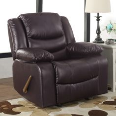 madison home usa classic overstuffed recliner color brown
