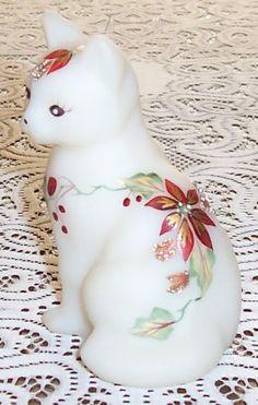 Milk Glass Cake Stand, Cat Tails, Henny Penny, Fenton Glassware, Bird Ornaments, Cat Decor, Glass Figurines, Glass Animals, Carnival Glass