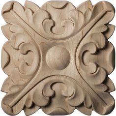 Ekena Millwork Acanthus Round Wood Rosette