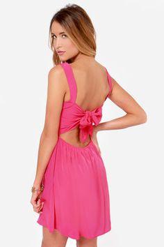Pink bow back dress $48