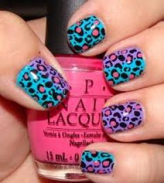 How to make 80's Leopard nail art.