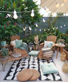 Home Decoration Ideas .Home Decoration Ideas Small Outdoor Patios, Outdoor Spaces, Outdoor Gardens, Outdoor Living, Outdoor Decor, Ideas For Small Patios, Outdoor Gym, Modern Gardens, Outdoor Fire