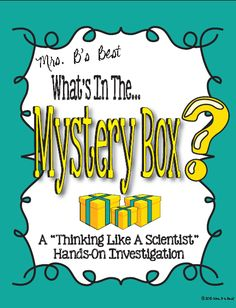Students will love this week long 'investigation' focused on using science tools, science process skills as well as the scientific method.