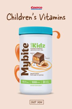 Even the pickiest of eaters will love taking this yummy daily vitamin! Mybite® Kidz is expertly formulated with Zinc, Vitamin C and Vitamin E to help support your little one's immunity. This delicious bite serves up the nutrients that growing bodies need like Vitamin A to support eye health, and Vitamin D to help absorb Calcium, promoting strong bones and muscles. Shop now at Costco.com. Strong Bones, Daily Vitamins, Bones And Muscles, Roasted Peanuts, Costco, Healthy Eats, Bodies, Room Ideas