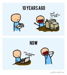 snail-mail vs. e-mail